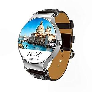 LCTCSB Reloj Inteligente Bluetooth con función de Voz, Tarjeta SIM Relojes Inteligentes con frecuencia cardíaca Pantalla táctil Bluetooth Reloj Deportivo Teléfono para Android y iOS
