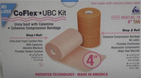 Bandage Kit Unna Boot Calamine, 4in x 6yd, Non-Adherent, 2-Rolls Per Box, Sold as Box Pt# 8840UBC-TN by Andover Coated Products