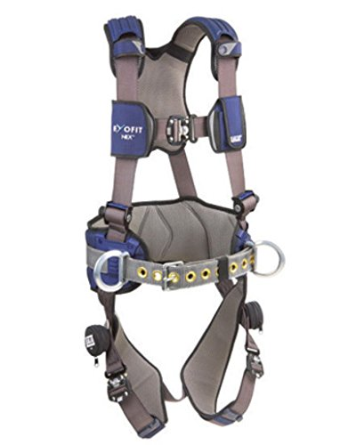 Dbi Sala Medium Exofit Nex Construction Full Body Style Harness With Tech Lite Aluminum Back D Ring  Duo Lok Quick Connect Leg And Chest Strap Buckle  Torso Adjuster  Back And Leg Comfort Padding
