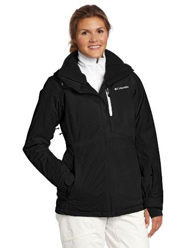 Columbia Women's Bugaboo Tech Interchange Jacket, Black, Large (Columbia Bugaboo 3 In 1 Jacket Womens)