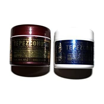 Tepezcohuite Cream Day and Night Set de 2 additioned with