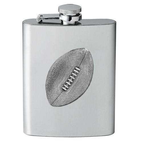 (1pc, Pewter Football Flask)