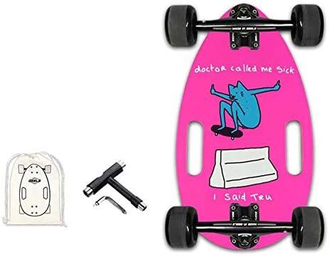 17.5インチミニメープルウッドスケートボード、ポータブルビートルスケートボードクルーザースケートボード大人初心者およびプロ向け