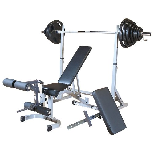 Powerline PSSPACK2 Squat Rack Package with Weights by Powerline