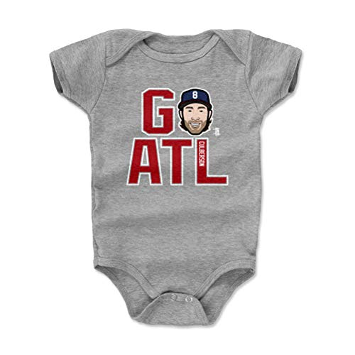 500 LEVEL Charlie Culberson Atlanta Braves Baby Clothes, Onesie, Creeper, Bodysuit (12-18 Months, Heather Gray) - Charlie Culberson GO ATL R WHT