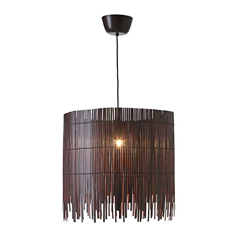 IKEA ROTVIK - lámpara de techo, bambú, marrón: Amazon.es: Hogar