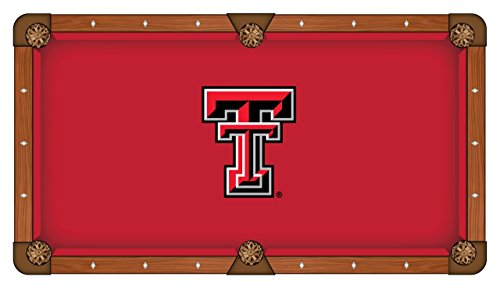 Texas Tech Red Raiders Holland Bar Stool Co. Red Billiard Pool Table Cloth (9')