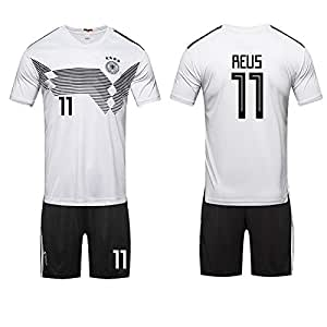 World Cup Football Jersey Germany Team No.11 Reus Football suits Short-sleeved T-shirt - L code