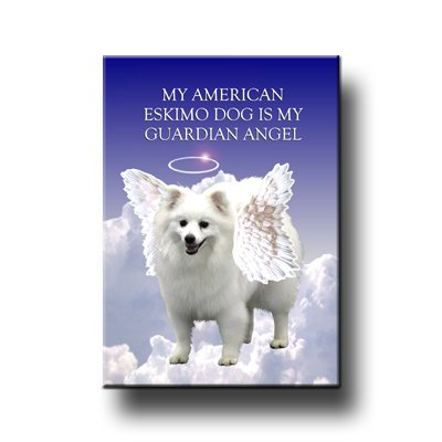 (American Eskimo Dog Guardian Angel Fridge)