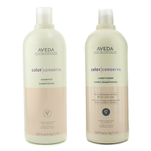 Aveda Color Conserve Shampoo and Conditioner 33.8oz Helps Protect Hair Color and Prevents Fading by AVEDA