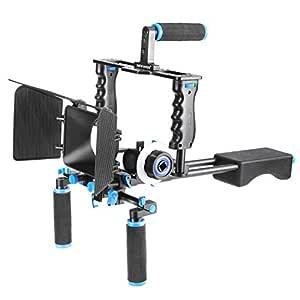Neewer Jaula Rig Sistema Filmación Aluminio Kit para Canon/Nikon ...