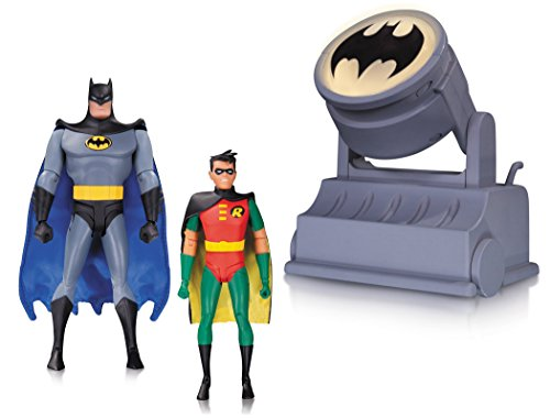 (DC Collectibles Batman The Animated Series Batman & Robin Action Figure with Bat-Signal (2 Pack))
