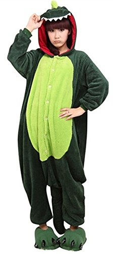 ABING Halloween Pajamas Homewear OnePiece Onesie Cosplay Costumes Kigurumi Animal Outfit Loungewear,Dinosaur Adult L -for Height (Couples Cosplay Costumes)