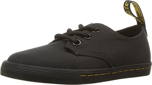 Dr. Martens Kid's Collection Unisex Santanita (Little Kid/Big Kid) Black T Canvas 2 M UK -