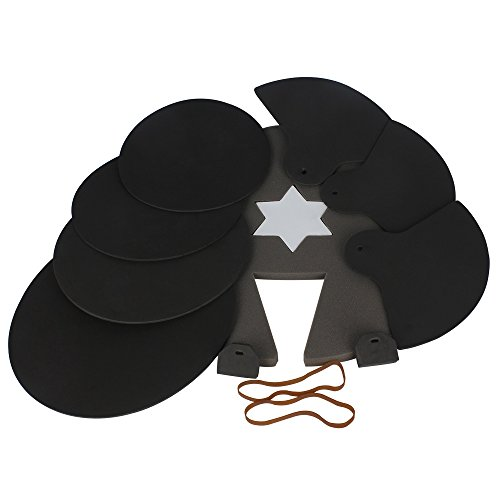 ammoon 8-Piece Drum Set Silencer Practice Pads Mute with Cymbal Mutes (5 Piece Practice Pad)