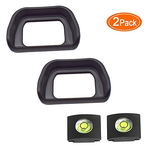 Eyepiece Eyecup Viewfinder Eye Cup for Sony Alpha Sony A6300 A6000 NEX-6 NEX-7 Digital Camera for viewfinder FDA-EV1S (2-Pack),ULBTER FDA-EP10 Eyepiece Eye Cup with Hot Shoe Cover (FDA-EP10)