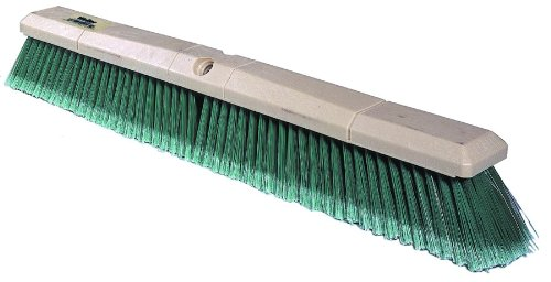 (Weiler 42164 Polystyrene Fine Sweep Floor Brush with Wood Handle, 2-1/2