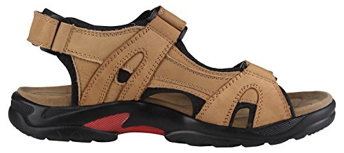 iLoveSIA Mens Leather Sandals Athletic and Outdoor Shoes Khaki vn5H0tCC9