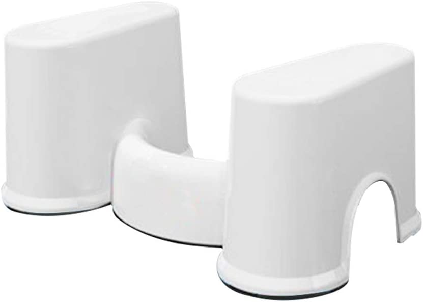 Bathroom Aid Squatty Step Foot Stool,for Potty Hilfe Prevent Constipation Faster Bowel Movements Plastic Non-Slip Toilet Stool