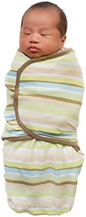 Summer Infant SwaddleMe (Green Wavy Stripe, Small)
