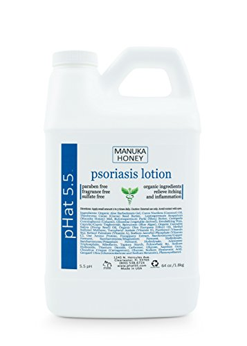 Psoriasis Cream (64oz) Treatment Cream Helps Symptoms Like Redness, Dry Patches, Plaque, Scales, Flakes by pHat 5.5