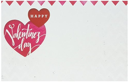 John Henry Happy Valentines Day Card Capri Cards Enclosure Cards for Floral Arrangements 50 Pack ()