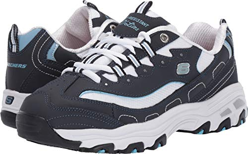 - Skechers Work Relaxed Fit D'Lites SR Health Care Pro Womens Sneakers Navy/White 8