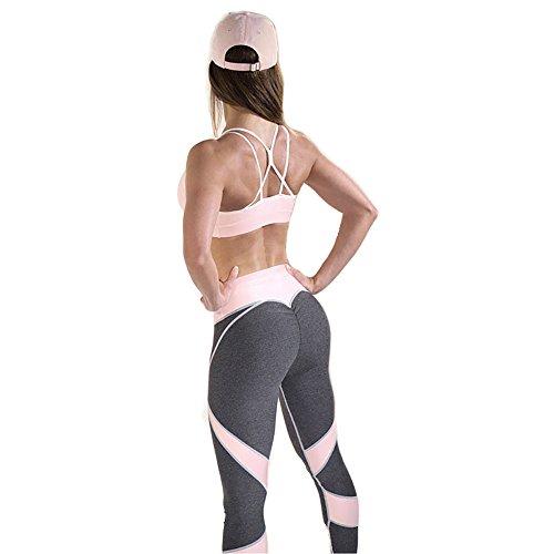 YINGSUN Women's Heart Shape Fitness Yoga Sport Pants Tight Leggings (M, Pink) Heart Yoga Pants