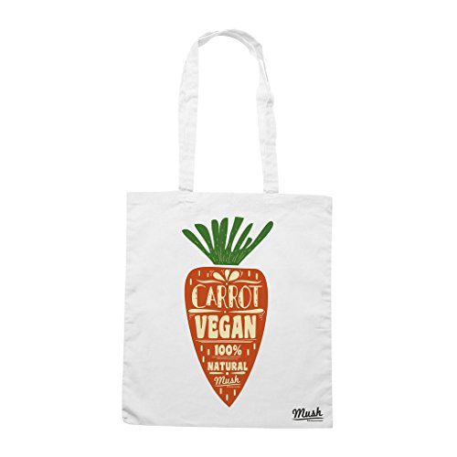 Borsa CARROT VEGAN FOOD - Bianca - MUSH by Mush Dress Your Style