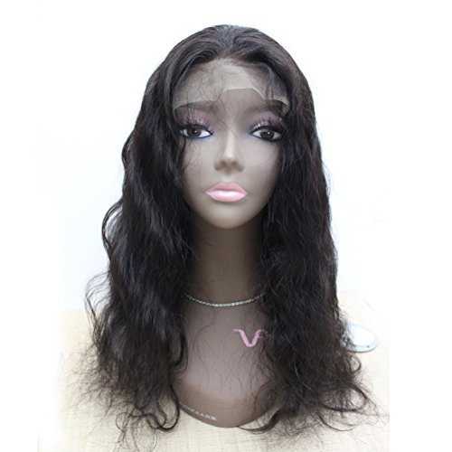Forawme Brazilian Virgin Body Wave Full Lace Wigs Human Hair 24 Inch 130% Density #1B Natural Black Middle Size Cap Cheap Real Hair Wig -