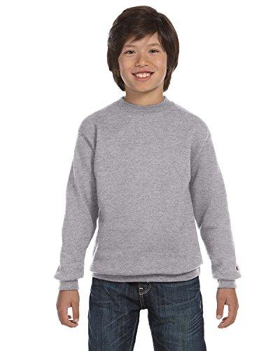 Champion Boys Big Powerblend Eco Fleece Sweatshirt, Black, L