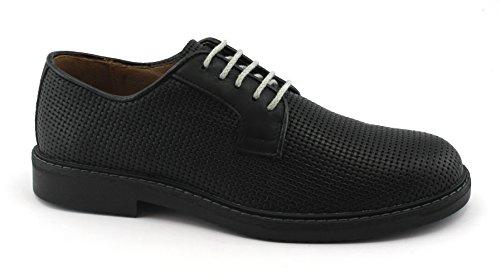 Igi&Co 1105177 Chaussures Noir Derby de Sport Hommes Cuir Tressé Élégant Nero PBTt5b8AKO