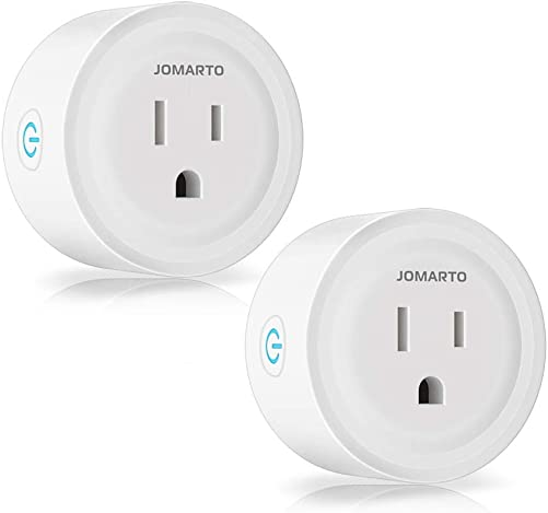 WiFi Smart Plug Outlet, 2 Pack Mini Smart Plug Socket Compatible with Alexa, Google Home and IFTTT, APP Remote Control and Timer Function No Hub Required MINI Round