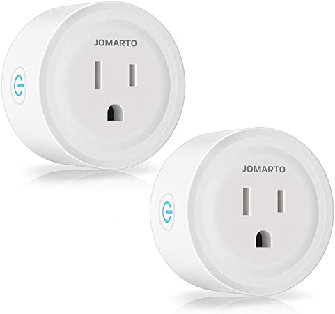 WiFi Smart Plug Outlet, 2 Pack Mini Smart Plug Socket Compatible with Alexa, Google Home and IFTTT, APP Remote Control and Timer Function No Hub ...