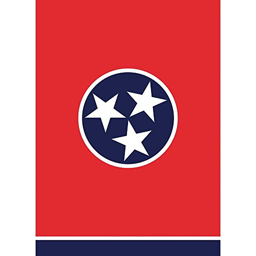 Tennessee Tri Star In Circle Red And Navy 30 x 44 Rectangular Large House Flag
