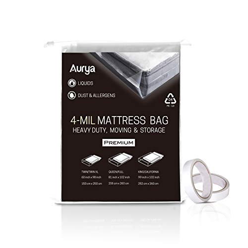 2 Pack Mattress Bags For Moving And Storing 4 Mil Thick Plas