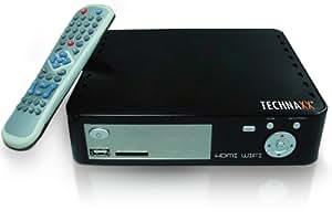 Technaxx - Reproductor multimedia (SATA, HDMI, Wi-Fi, HDD, grabadora, Timeshift, 500 GB)