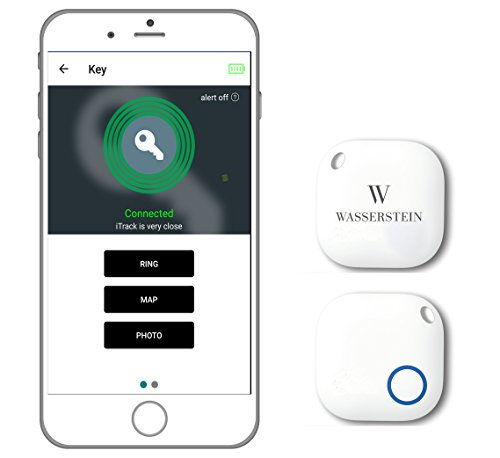 Bluetooth Key Finder, GPS Smartphone Tracker, Smart Anti-Lost Alarm, Remote Camera Controller for iOS & Android Devices by Wasserstein (4, - Where My Are App Glasses