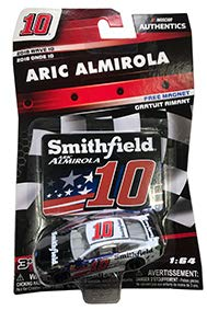 (NASCAR Authentics Aric Almirola #10 Diecast Car 1/64 Scale - 2018 Wave 10 with Die Cut Magnet - Collectible)