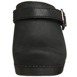Dansko Women\'s Ingrid Oiled Leather Clog,Black,38 EU / 7.5-8 B(M) US