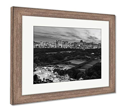 - Ashley Framed Prints Historical Grand Palace in Seoul City, Wall Art Home Decoration, Black/White, 30x35 (Frame Size), Rustic Barn Wood Frame, AG5888122