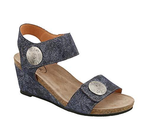 (Taos Footwear Women's Carousel 2 Blue Floral Sandal 8-8.5 M US)