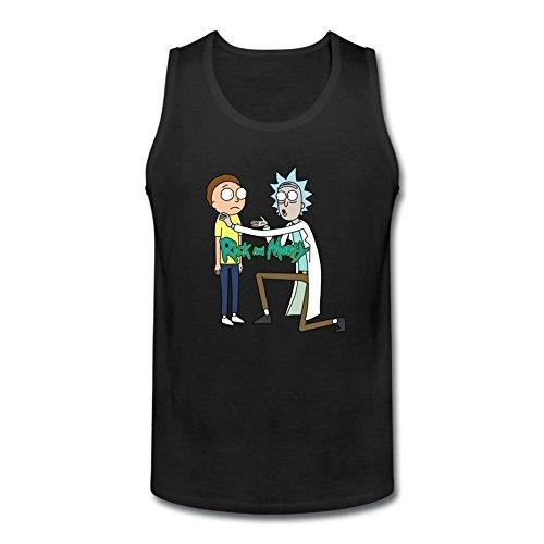 JXK JXK Men's Rick and Morty Funny Logo tank top Size S