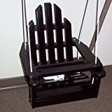 Childs Adirondack Swing - Wood - Includes Safety Strap and Rope -Ages 3 & Under - Color: BLACK