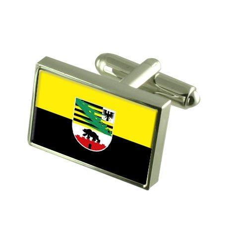 Saxe-Anhalt État Boutons de manchette drapeau avec select pochette cadeaux