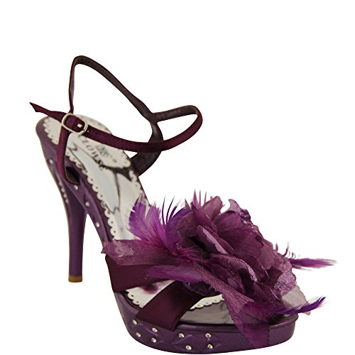 Unbekannt - Zapatos con tacón Mujer Morado - morado