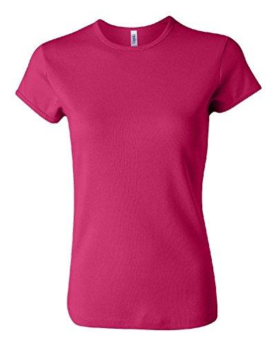 Ponce Bella + Canvas Ladies Baby Rib Short Sleeve T-Shirt Womens Tee S-2XL 1001