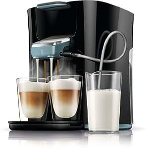 Senseo Latte Duo HD7855/60 Independiente Totalmente automática Máquina de café en cápsulas 1L Negro - Cafetera (Independiente, Máquina de café en cápsulas, 1 L, Dosis de café, 2650 W, Negro)