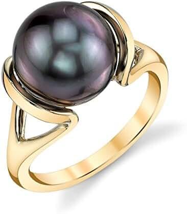 14K Gold Tahitian South Sea Cultured Pearl Hanna Ring