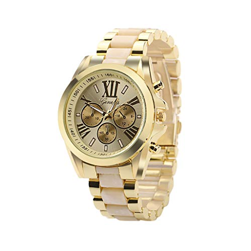 Barthylomo Men's Steel Strap Dial Watch, Casual Roman Digital Fake Three Eye Wrist Watches